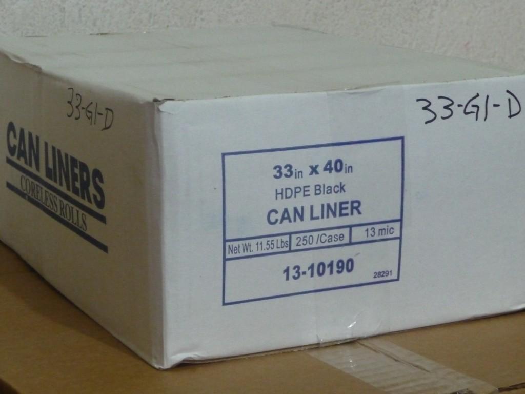 caja de bolsa de 33 gl delg