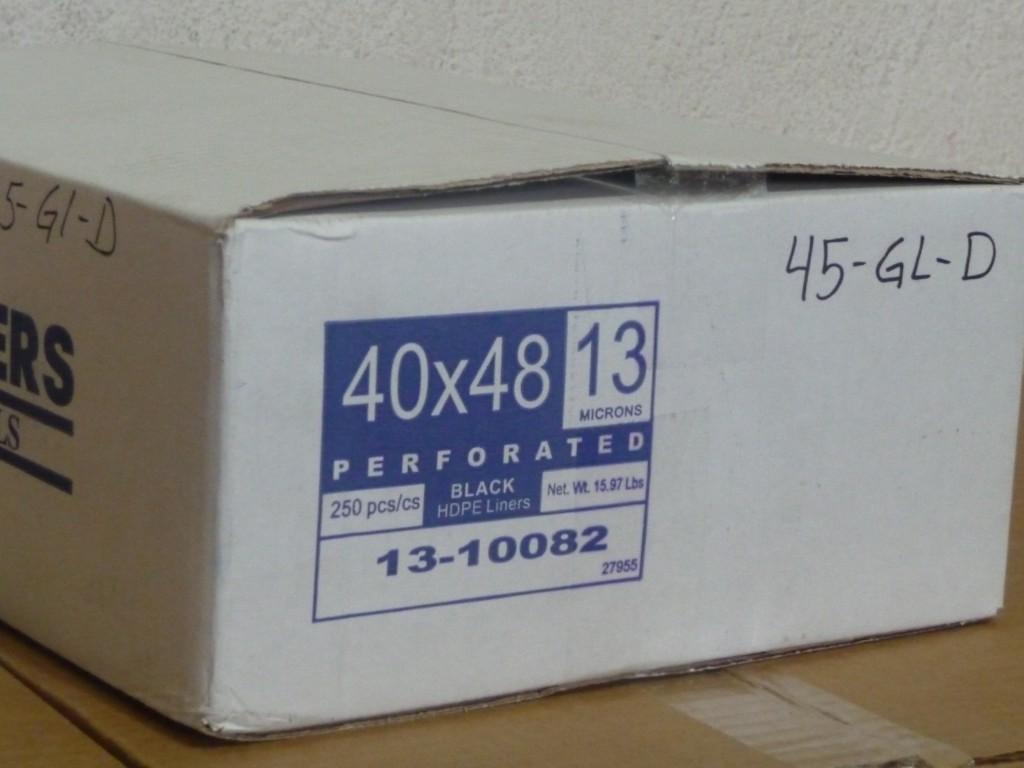 Caja de Bolsa Delgada 48 galones