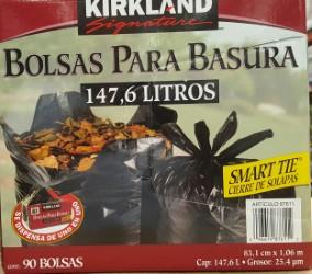CAJA DE BOLSA DE 33 GL C / 90 AGARRADERA CON