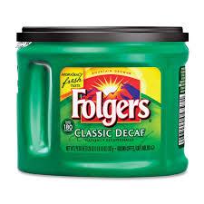 lata cafe folgers verde descafeinado