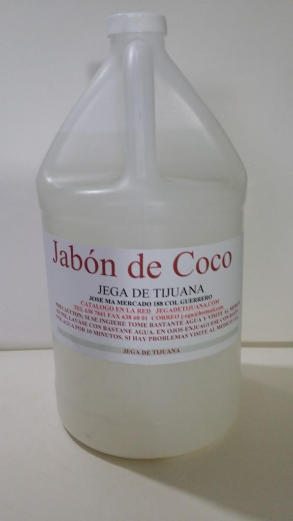 jabon para manos olor coco